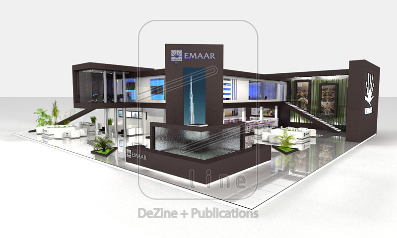 design  emaar exhibition stand at next move 2009